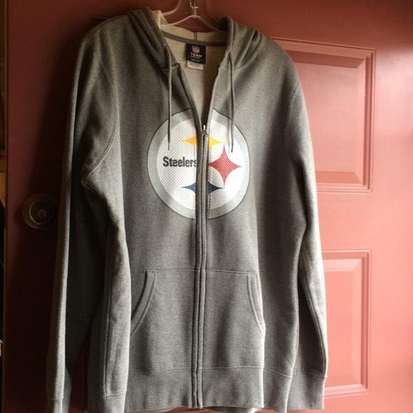 san francisco 3b9ce 73840 Women's gray steelers zipper hoodie